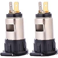 ibasenice Sigarettenaansteker Stopcontact 2 Stks 12-24 V Marine Lader Socket Adapter Houder Voor Auto Marine Motorfiets…
