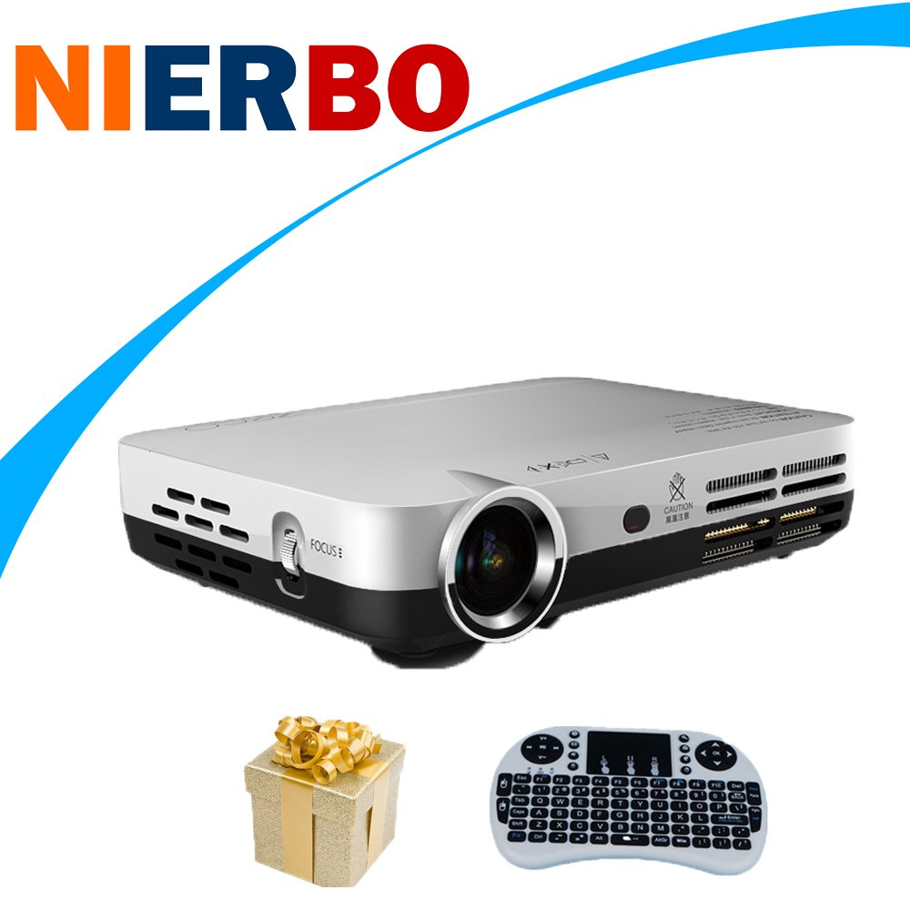 nierbo 3d Mini Proyector Android cine en casa con Bluetooth Wifi ...