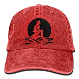 Have You Shop The Little Mermaid Trend Printing Cowboy Hat Fashion Baseball Cap for Men and Women Black Red