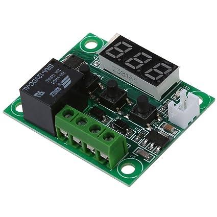SODIAL(R) DC 12V Termostatos Interruptor sensor termico de temperatura -50 ~ 110