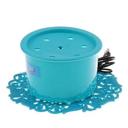 Homyl Fuente de Agua para Mascotas Complimentos Dispensador de Agua para Gatos Cómodo - Azul