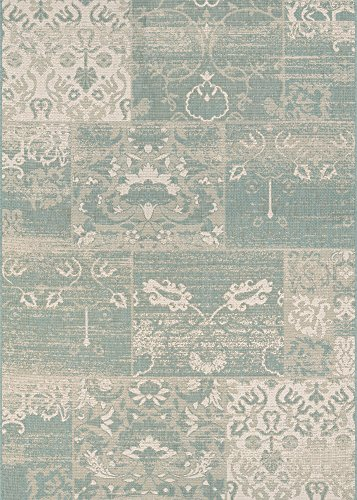 Couristan Afuera Country Cottage Runner Rug, 2-Feet 2-Inch by 7-Feet 10-Inch, Sea (Country Cottage Furniture)