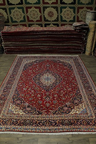 - Traditional Red S Antique Handmade Kashan Persian Style Area Rug Oriental Carpet 10X13