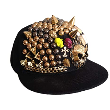 ENGXING So Cool Hip Hop Cap Hombre Diamond Skull Gorras De Béisbol ...
