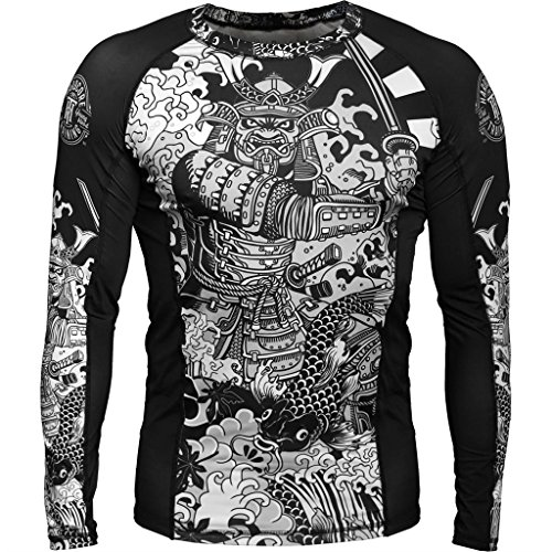 Hardcore Training Rash Guard Koi 2.0 - Men Long Sleeve - MMA UFC Grappling Cage Fight Fitness -s ()