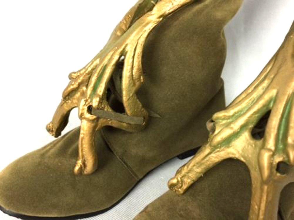 thecostumebase Slave Leia Jabba Boots Footwear Jerba Skin Shoes Princess Star Wars