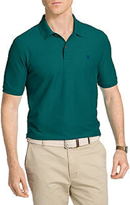 Izod Hombres Opaco Cuello Amplio Camisa Polo - Verde ...