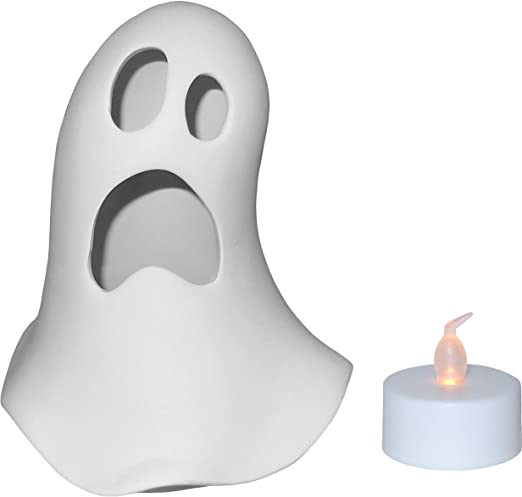 Spooky Ghost Votive Candle Holder Paint Your Own Ceramic Keepsake