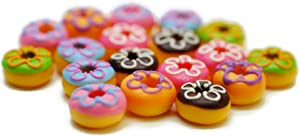 18 Psc Colorful Donut Dollhouse Miniatures Food Kitchen by Cool Price
