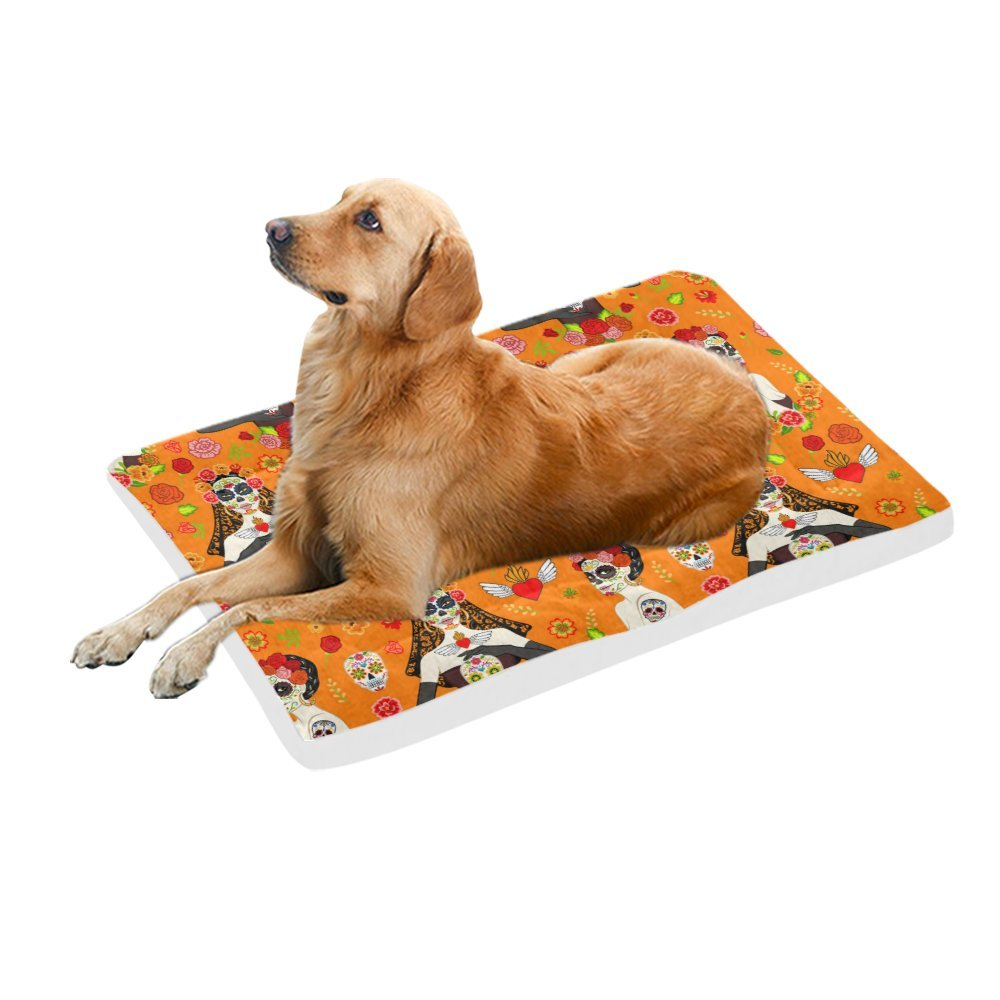 42\ your-fantasia Beautiful Women and Sugar Skull Pet Bed Dog Bed Pet Pad 42 x 26 inches