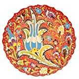 Handmade Turkish Traditional Ceramic Plate 7 1/2