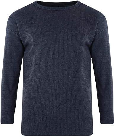 Kam Jeanswear - Camiseta térmica de Manga Larga Tallas Grandes para Hombre Caballero