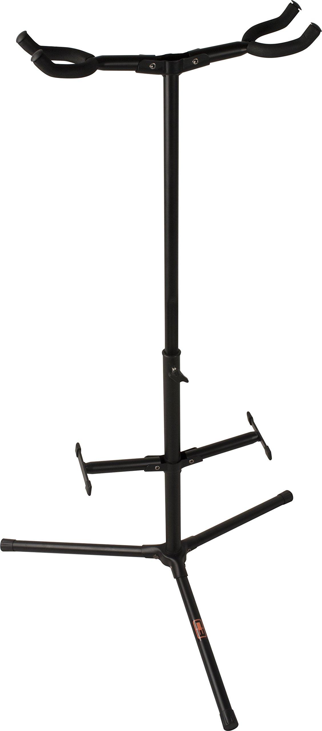 C3 CS-GS2 Tripod Base Dual Guitar Stand, Black