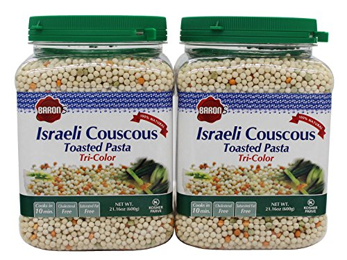 Baron's Kosher Israeli Tri-color Couscous Toasted Pasta 21.16-ounce Jar (Pack of 2) (Pasta Couscous)