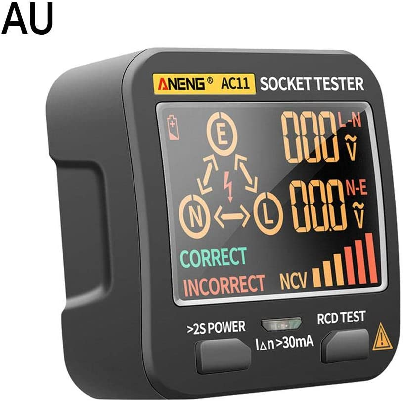 New Screen Display Leakage Tester Voltage Tester Digital Smart Socket Tester Plug RCD Detector for ANENG AC11
