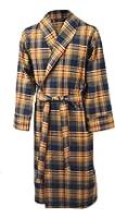 Lloyd Attree & Smith - robe de chambre légère 100% coton brossé - carreaux bleu marine / bordeaux / beige - homme