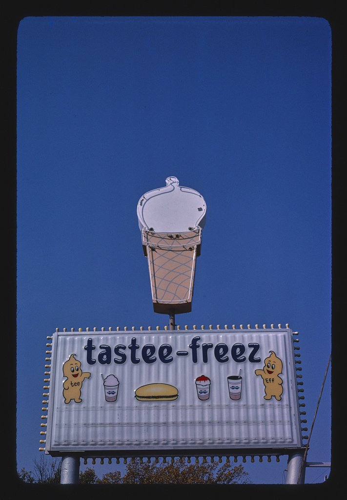 Vintography 16 x 24 Photo of Tastee-Freez ice Cream Sign, Rt. 60, Bartlesville, Oklahoma 1979 Ready to Frame 76a