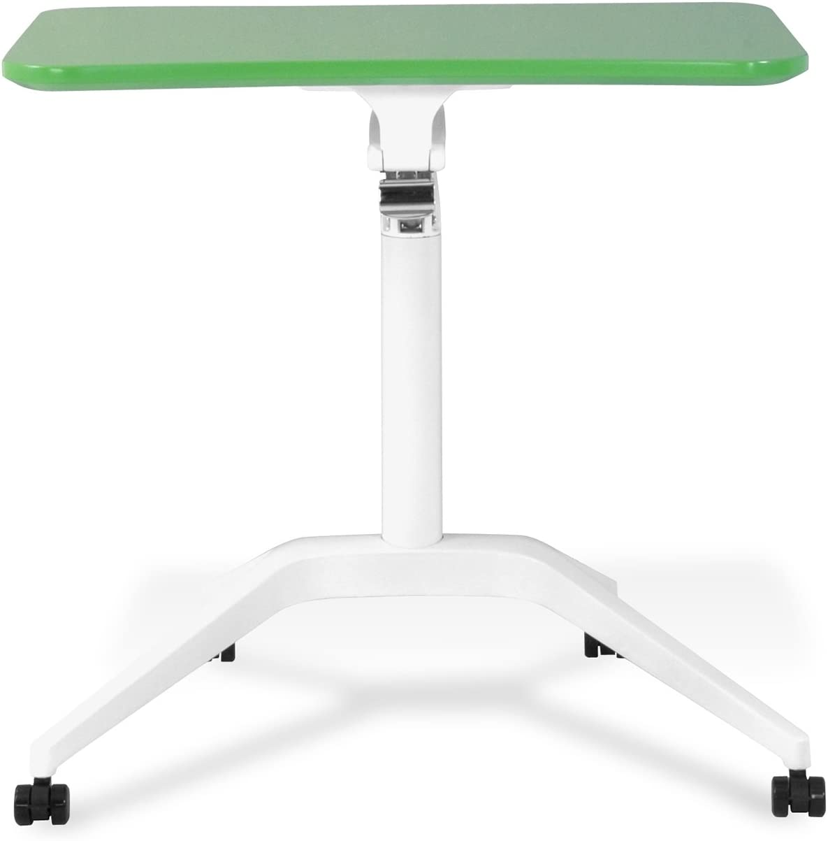 Unique Furniture Workpad Height Adjustable Laptop Cart Mobile Desk, with Green Top