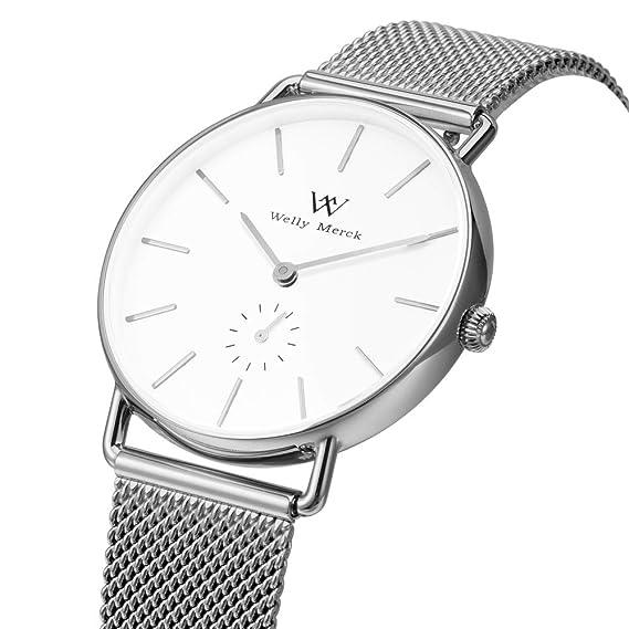 Welly Merck - Reloj de Pulsera para Mujer, Movimiento de Cuarzo Suizo, Lujoso,