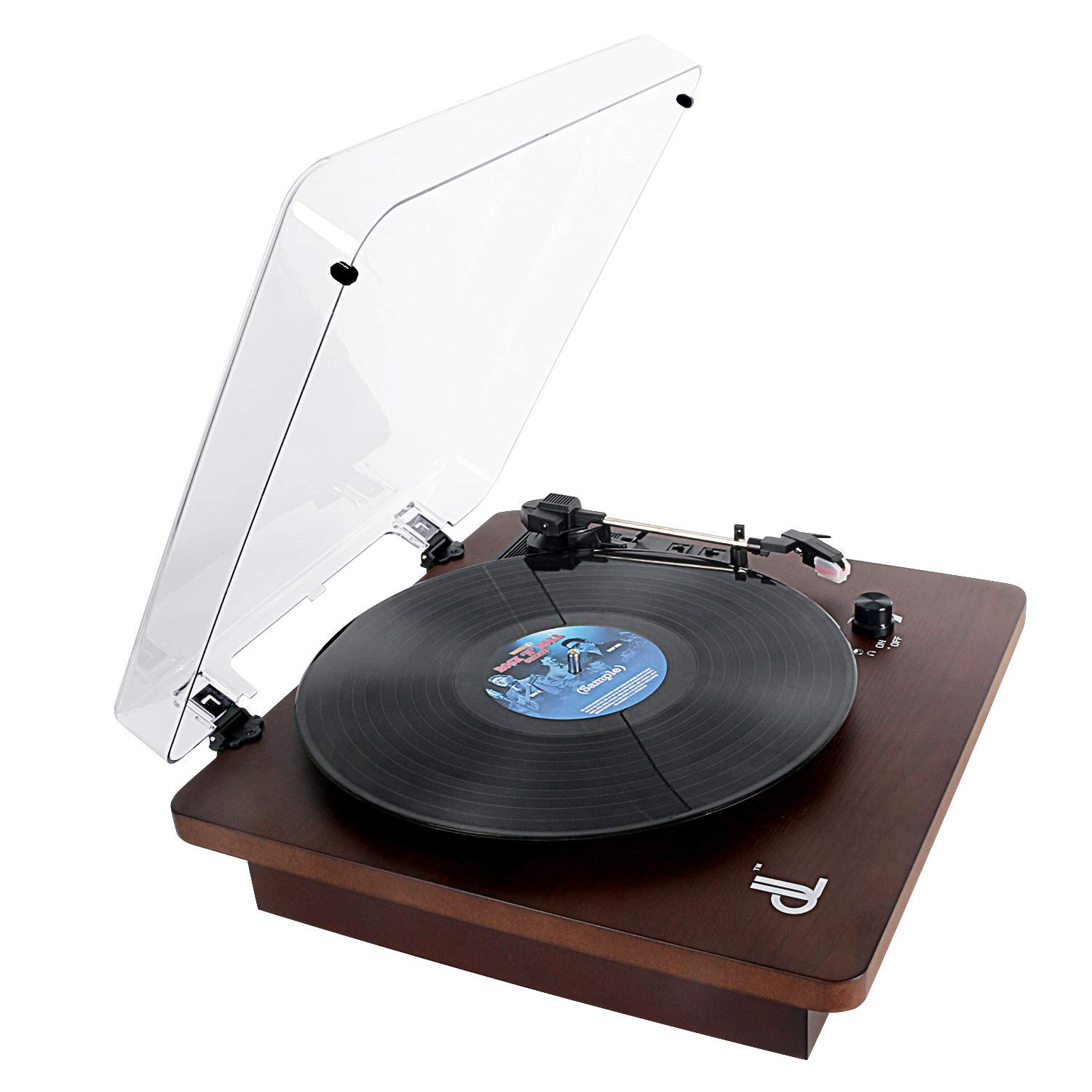 front facing DLITIME 3-Speed Turntable