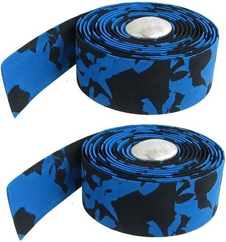 Dcolor 2 x Cinta Azul Negro para Manillar de Bicicleta Barra ...