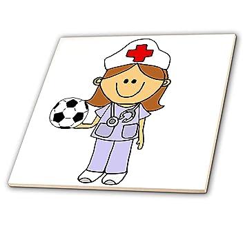 Amazon.com: 3dRose All Smiles Art - Jobs - Cool Funny Nurse ...