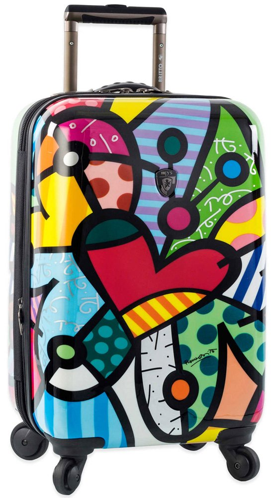 Heys America Butterfly Love 21-Inch Carry-on Spinner Luggage