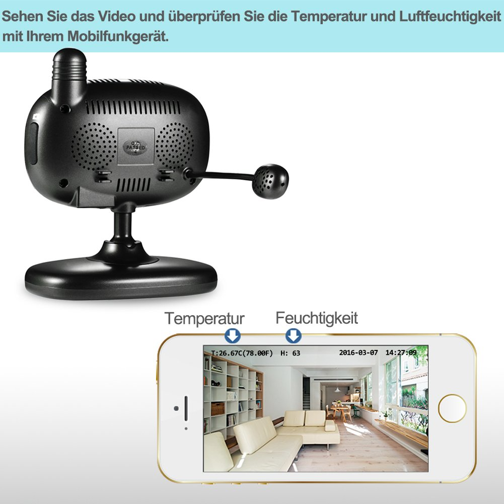 Wansview 1080P Wlan WiFi Wireless IP Sicherheits kamera: Amazon.de ...