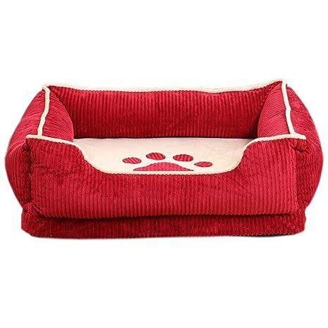 NYJ Cama para Perros, Gran tamaño Extra Suave, cálido, extraíble y Lavable.
