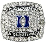2015 NCAA Duke University Blue Devils Krzyzewski National Championship Replica Ring Size 11