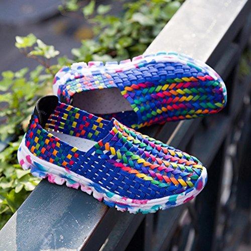 Automne Sport Bleu Sandales lastiques Pour Chaussures Respirant Femmes Merceditas Non Tisses Mocassins Pantoufles Espadrilles xv6Z04q