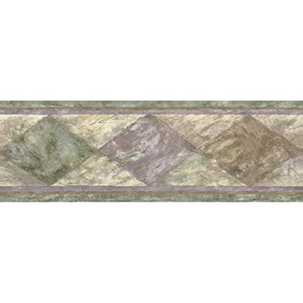 Decorate By Color Bc1580004 Green Textured Harlequin Border