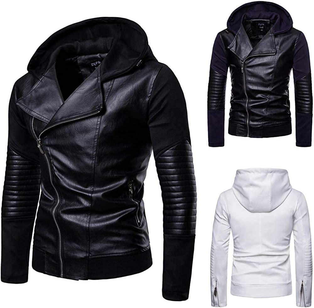 Mens Tactical Jacket,Men fold Leather Winter Jacket Biker Motorcycle Outwear Coat,Jackets for Men