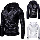 VEZAD Store Men fold Leather Autumn&Winter Jacket