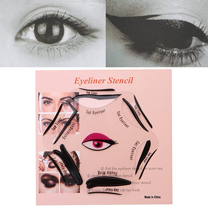 Amazon Amrka 6 In 1 Eyeliner Stencil Set Template Quick Cat