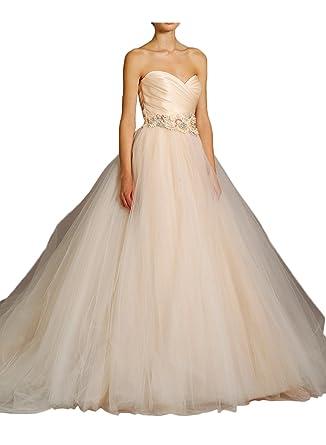 Gorgeous Bride Elegant Herzform A-Linie Prinzessin Lang 2017 Damen  Hochzeitskleider Lang Brautkleider -32