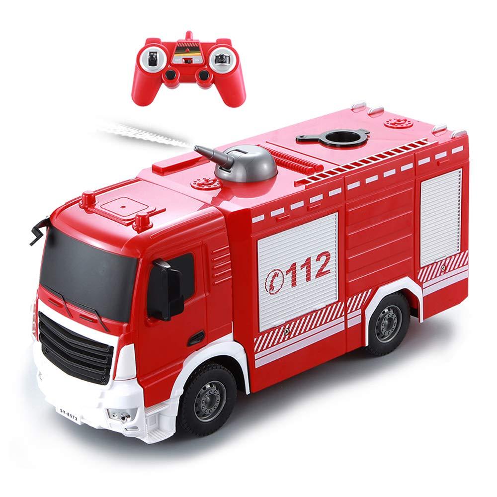 ¡envío gratis! LXWM RC Camión de Bomberos 2.4G 2.4G 2.4G Camión de Radio Control de Vehículos Construcción de Vehículos de Control Remoto Chorro de Agua de Agua para Niños Juguetes de Regalo  nuevo sádico