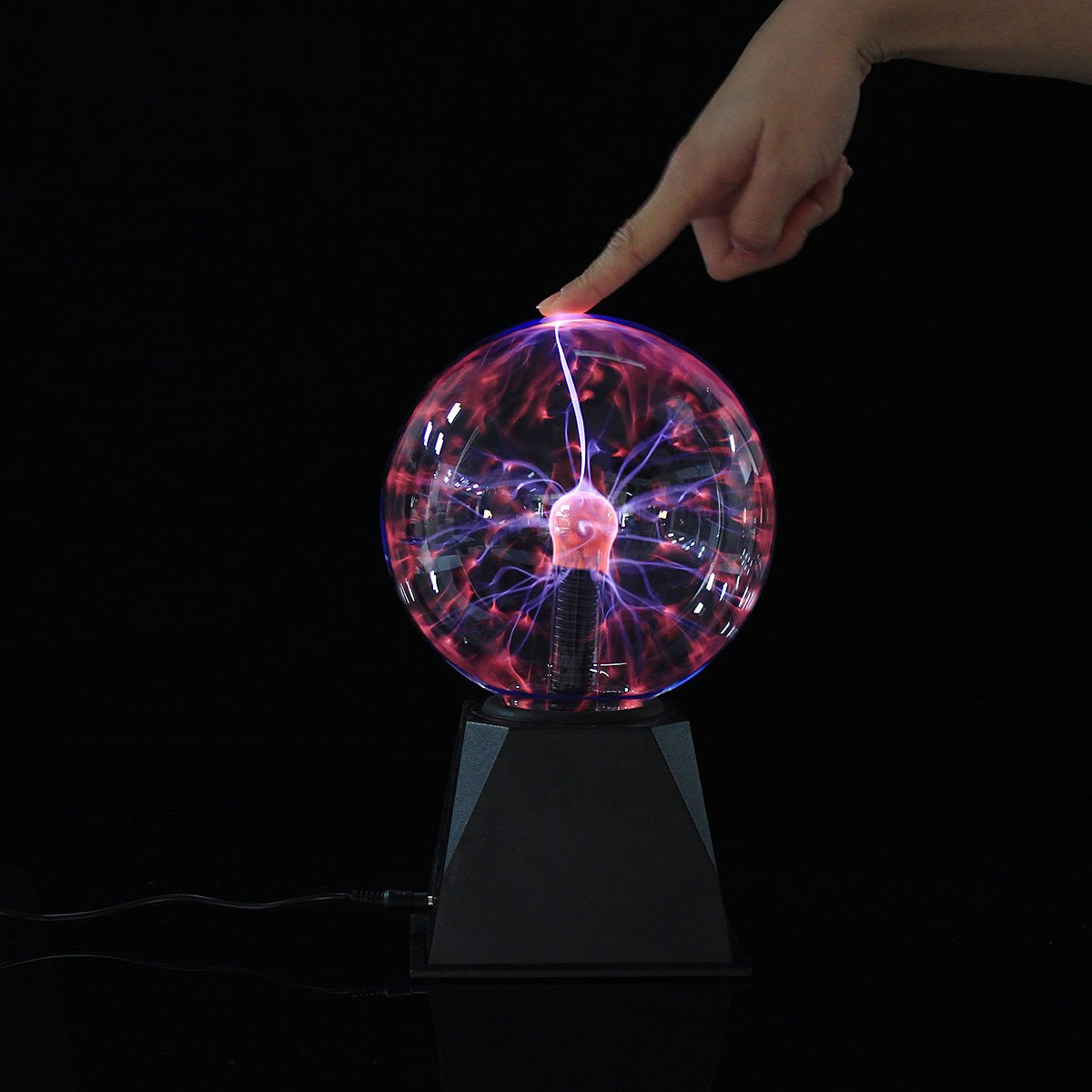 YPINGLI Plasma Ball Light Magic Crystal Ball Lamp Ion Sphere Lightning Atmosphere Car Decoration Lights LED Lights (Color : 8 Inch)