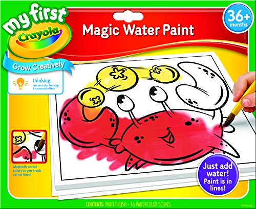 Crayola My First Magic Water Paint Set, Toddler Art Supplies, No Paint Needed - Color Wonder Finger Paint