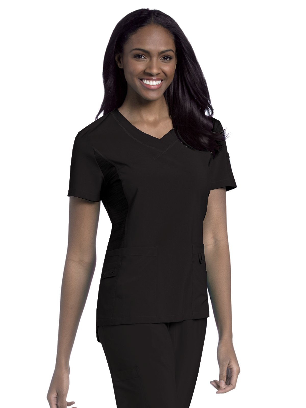Urbane Performance 9047 Women's Modern Fit Quick Cool Sport Scrub Tunic Black S