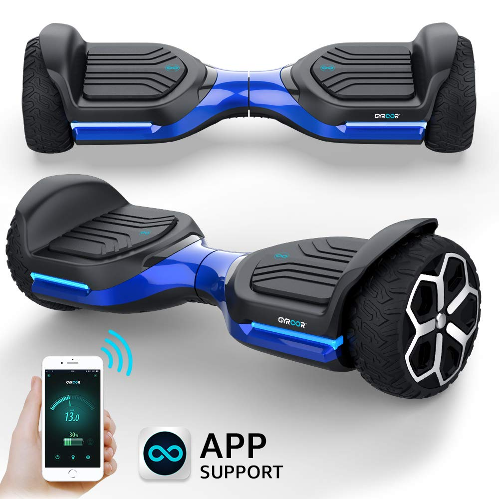 Gyroshoes Hoverboard Off Road All Terrain Self Balancing Scooter 6.5'' T581 Flash Two-Wheel Self Balancing Hoverboard with Bluetooth Speaker and LED Lights for Kids and Adults Gift UL 2272 Certified by Gyroshoes