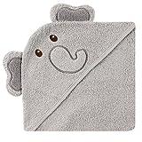 Luvable Friends Animal Face Hooded Towel, Elephant