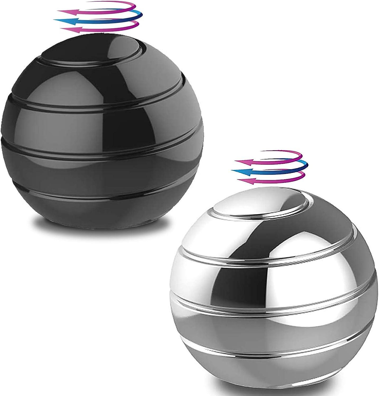 Gold TRUEGOOD Kinetic Desk Toys,Full Body Optical Illusion Fidget Spinner Ball,Gifts for Men,Women,Kidsical Illusion Fidget Spinner Ball,Gifts for Men,Women,Kids