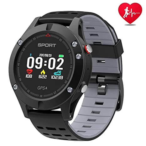APHYC Reloj Deportivo con Bluetooth, altitud, termómetro Integrado, GPS para Fitness, Correr, Senderismo, Escalada, IP67, Impermeable, Monitor de ...