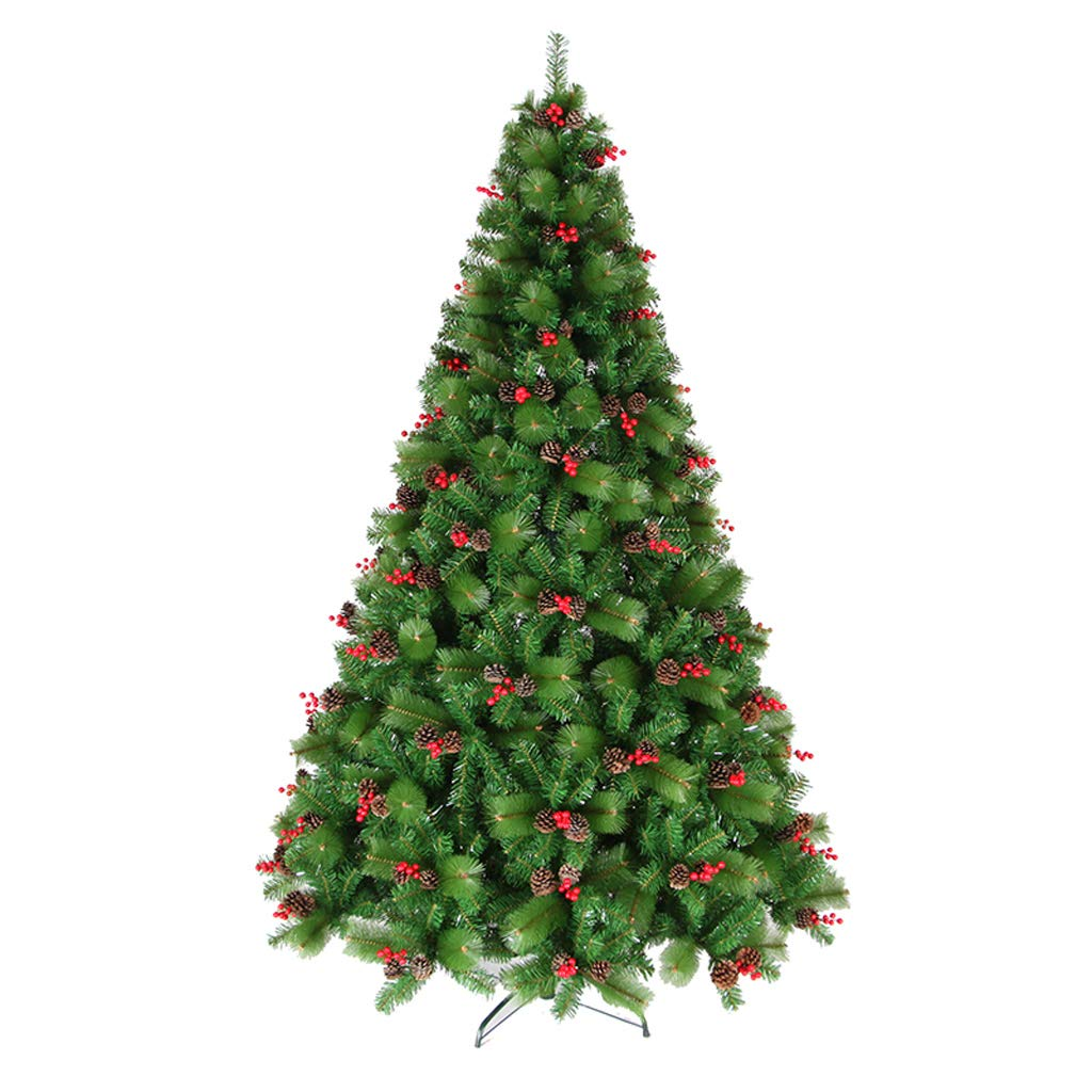 XF Christmas Tree-Christmas Tree Pine Cone Pine Needle Tree Christmas Decorations Ornaments Artificial Christmas Tree All Occasions Green Color Pine Needle Tree with Metal Bracket // (Size : 1.8m)