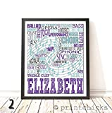 Choir Typography Personalized Print - PrintChicks Singing Art Decor Poster