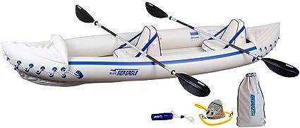 Amazon.com : Sea Eagle 370 Pro 3 Person Inflatable Kayak ...