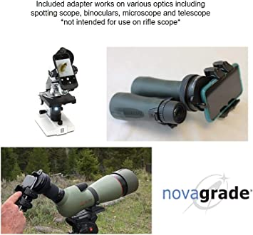 Novagrade - Adaptador universal para teléfono Digiscoping: Amazon ...