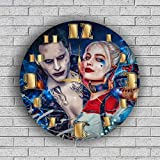 HARLEY QUINN AND JOKER Quiet Sweep Movement Wall Clock Decorative Battery Operated 11,8 Inch – for devoted fans of DC comics. For Sale