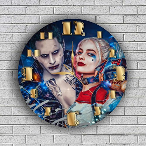 FBA HARLEY QUINN AND JOKER Quiet Sweep Movement Wall Clock Decorative Battery Operated 11,8 Inch – for devoted fans of DC (Best Harley Quinn Costume)